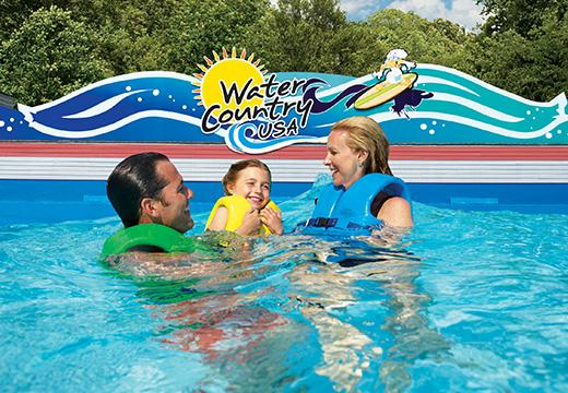 Family swimming at Water Country USA