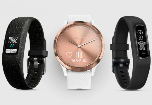 Garmin smartwatches and activity trackers