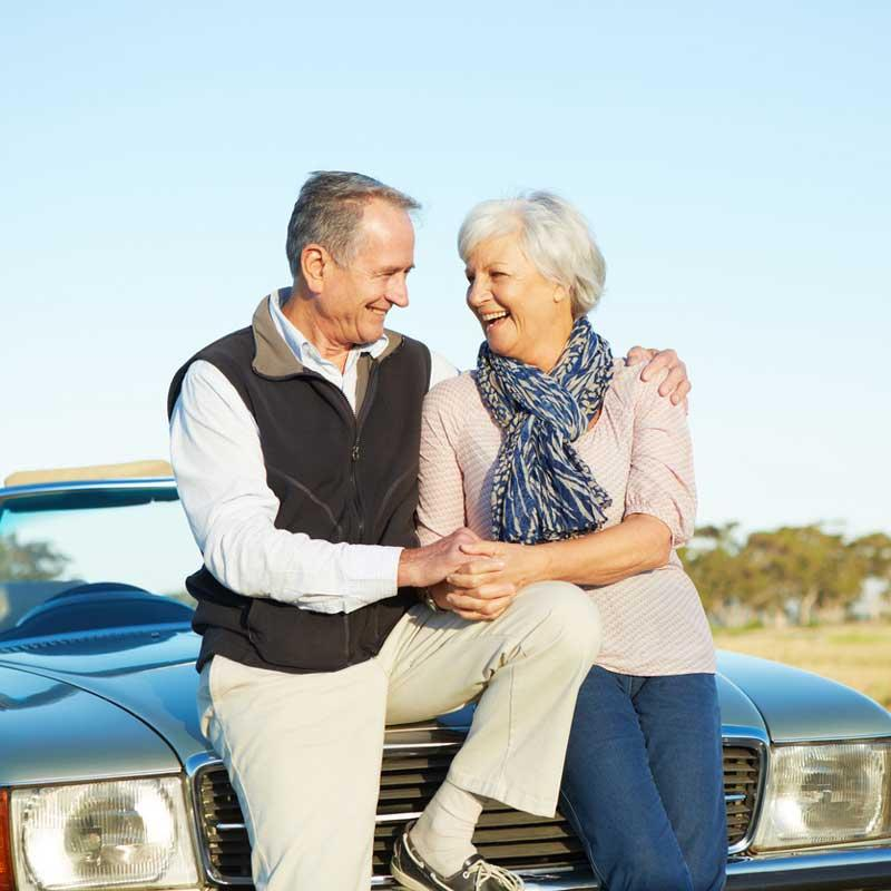 Couple with Car, CAA Auto Insurance